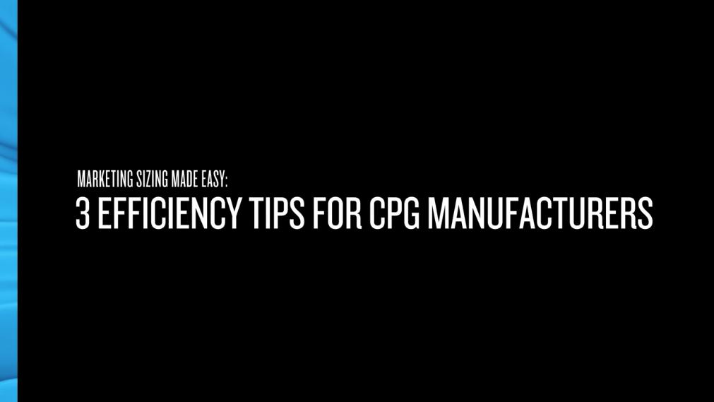 CPG Market Sizing